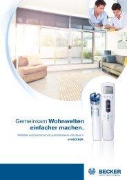 Broschüre Rollladen und Sonnenschutz.pdf - Becker Antriebe GmbH
