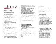 Legislaturziele im Visier - KMV St. Gallen
