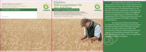 Effektive Mikroorganismen für den Ackerbau - Multikraft