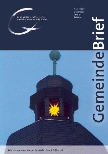 Brief Gemeinde - Evangelisch- Lutherische Stadtkirchgemeinde Gotha