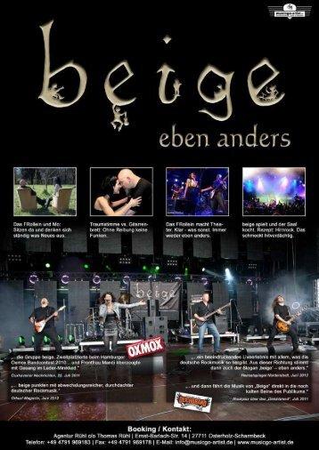 """beige """"eben anders"""" - musicgo Artist"""