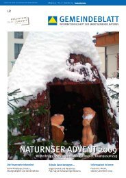 NATurNsEr ADvENT 2009