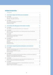 Inhaltsverzeichnis - SOL-Verlag GmbH