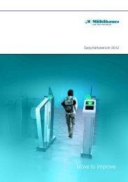 Download Geschäftsberichte 2012 - Mühlbauer AG