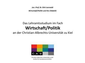 Wirtschaft/Politik - Institut für Sozialwissenschaften - Christian ...