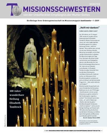 MISSIONSSCHWESTERN - Kontinente