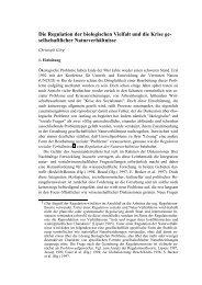 Die Regulation der biologischen Vielfalt und die Krise ge - Biopiraterie