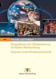 Trends und Fakten 2005: Perspektiven der Globalisierung für Baden ...