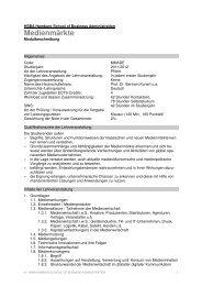 Medienmärkte MM Jg 11 - HSBA Hamburg School of Business ...