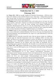 Waldschutz-Info 1/2013 - Nordwestdeutsche Forstliche ...