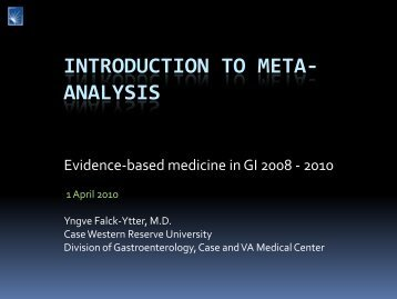 Critically appraising meta-analysis of intervention studies