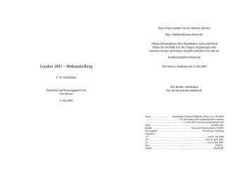 London 1851 - Hackländer, Friedrich Wilhelm Ritter von