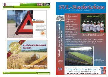 SVL-Nachrichten - Ausgabe Oktober 2009 - SV Lüxem