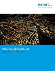 Corporate Design Manual guidelines RTW2012