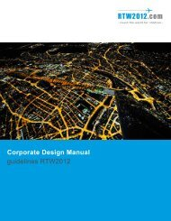Corporate Design Manual guidelines RTW2012
