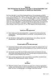 Satzung über Erlaubnisse für Sondernutzungen in ... - Stadt Soltau