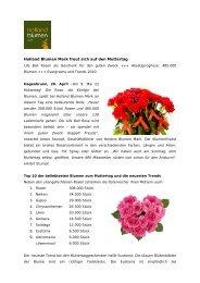 Holland Blumen Mark freut sich auf den Muttertag - Reichl ...