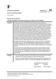 Gemeinderat Binningen Geschäft Nr. Bericht an den Einwohnerrat ...