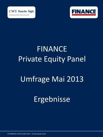 Private Equity Panel Mai 2013 - Finance Magazin