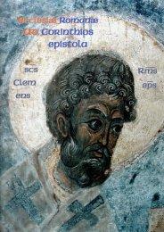 Clementis Romani epistola ad Corinthios prima - Kreuzgang