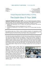 SINO-DUTCH IT TOUR-2009 - GPI Consultancy