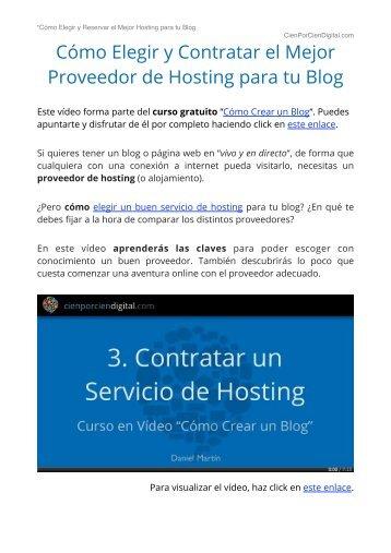 Como Reservar el Hosting - Curso Gratis Como Crear Un Blog - Wordpress