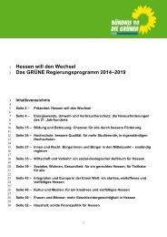 Hessen will den Wechsel - Konzepte für Hessen