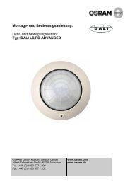 Licht- und Bewegungssensor Typ: DALI LS/PD ADVANCED - Osram