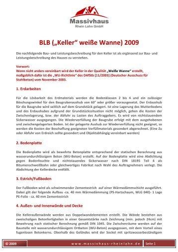Keller weiße Wanne_enev_ 2009