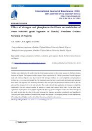 Effect of nitrogen and phosphorus fertilizers on nodulation of  some  selected  grain  legumes  at  Bauchi,  Northern  Guinea  Savanna of Nigeria
