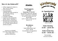 Flyer Jan_Maerz - Jugendzentrum KLÄRWERK