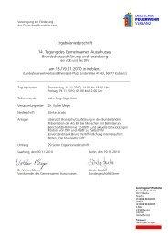 Ergebnisniederschrift 14. Tagung Gemeinsamer Ausschuss
