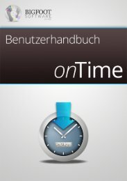 Handbuch - Bigfoot Software