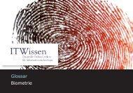 Biometrie Glossar Biometrie - ITWissen.info