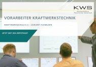 vorarbeiter kraftwerkstechnik - KRAFTWERKSSCHULE EV