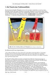 1. Die Theorie des Treibhauseffekts - Der anthropogene ...
