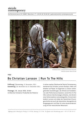 Bo Christian Larsson | Run To The Hills - steinle contemporary
