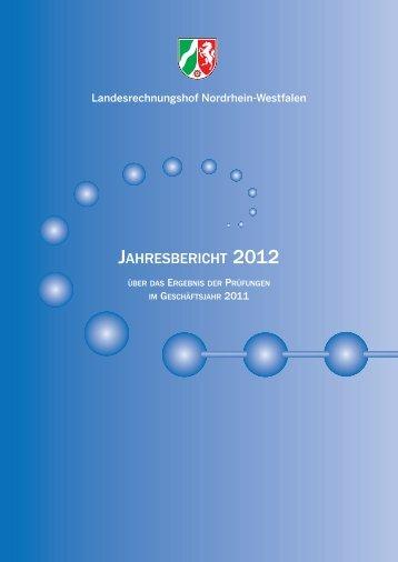 JB 2012 - Landesrechnungshof des Landes Nordrhein-Westfalen ...