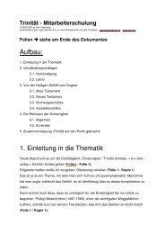 Thema - Trinitaet - Mitarbeiterschulung - Veitc.de