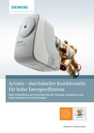 Acvatix - Siemens Building Technologies
