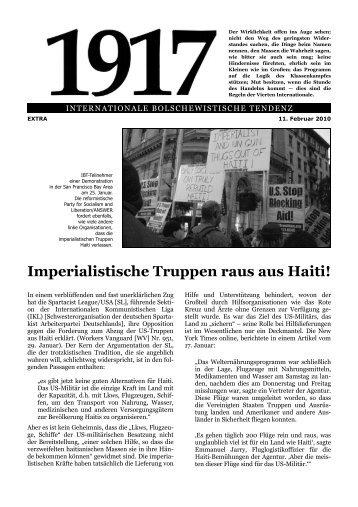Imperialisten raus aus Haiti! - International Bolshevik Tendency