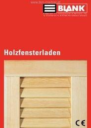 BLANK Prospekt Holzfensterladen - TKM Klaus Madzar - TKM Fenster