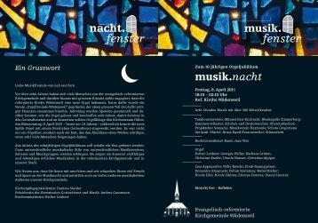 Eintritt frei – Kollekte - Musikverein Harmonie Wädenswil