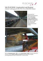 Stallhygiene mit plocher-k in der Rinderhaltung
