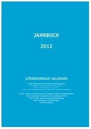 JAHRBUCH 2012 - Literaturhaus Salzburg