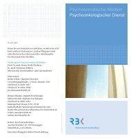 Psychoonkologischer Dienst Psychosomatische Medizin