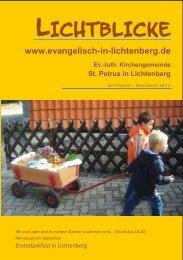LICHTBLICKE - St. Petrus in SZ-Lichtenberg