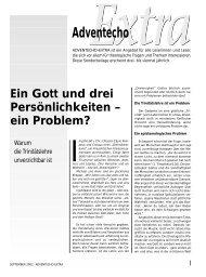 Ein Gott und drei Persönlichkeiten - Theologische Hochschule ...