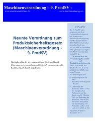 Maschinenverordnung -9. ProdSV - Maschinenrichtlinie.de