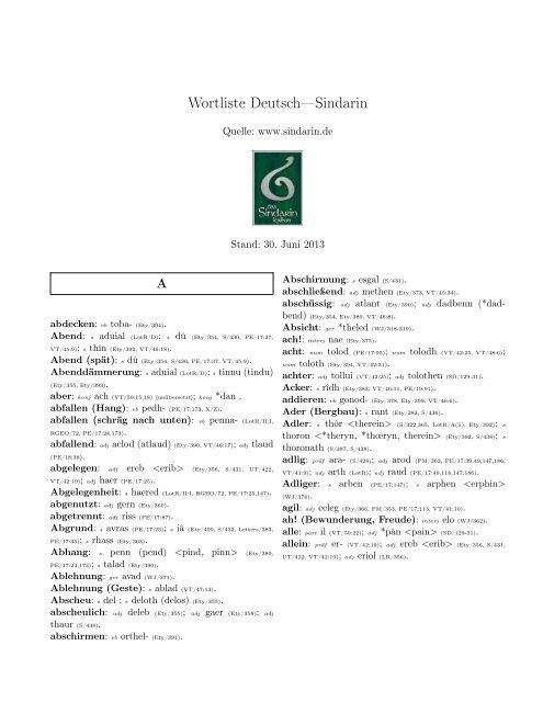 wortliste deutsch